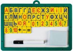 Магнитная доска Economix с набором магнитных цифр, знаков и букв (E81212)