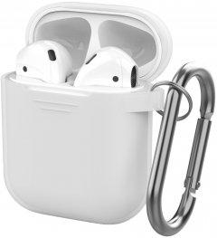 Классический силиконовый чехол AhaStyle с карабином для Apple AirPods с зарядным футляром Clear (AHA-00060-CLR)