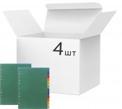 Набор пластиковых цифровых разделителей KLERK А4 1-12 140 мкм микс цветов Глянцевых 4 шт (Я20275_PY-12A)