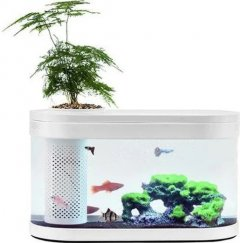 Аквариум Xiaomi Geometry Fish Tank Aquaponics Ecosystem 10 л White HF-JHYG001 (2001000011650)