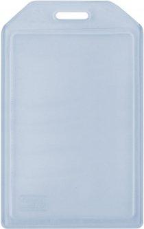 Набор бейджей Optima PVC вертикальные 54х90 мм 10 шт Прозрачный (O45614)