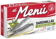 Сардины средиземноморские El Menu в оливковом масле 90 г (8410140026518)