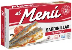 Сардины средиземноморские El Menu в томате 90 г (8410140026211)