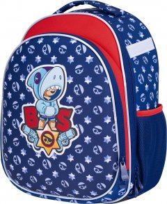 Рюкзак каркасный школьный BS AS1 Leon Shark 39x30x17 см 24 л (501021017)