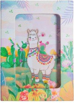"""Блокнот детский Malevaro """"Веселая лама"""" в подарочной упаковке 150x110 мм 70 г/м² 80 листов в линию (A641902) (6931164700953)"""