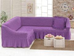 Чехол для углового дивана Love You с подушкой 29 Лиловый (ly198041) (4820000198041)