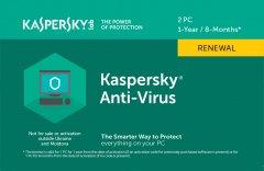 Kaspersky Anti-Virus 2020 продление лицензии на 1 год для 2 ПК (скретч-карточка)