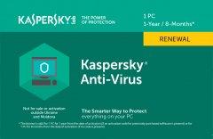 Kaspersky Anti-Virus 2020 продление лицензии на 1 год для 1 ПК (скретч-карточка)