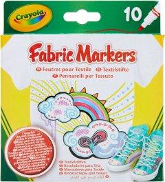 Набор фломастеров Crayola Washable Тонкая линия для рисования на ткани 10 шт (256353.012) (0071662186333)