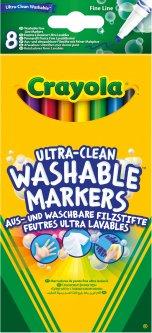 Набор фломастеров Crayola Ultra-Clean Washable тонкая линия 8 шт (256351.012) (0071662083304)