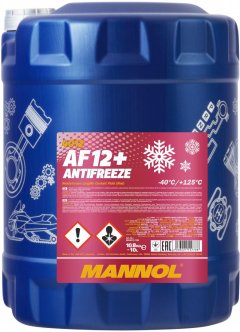 Антифриз Mannol Antifreeze AF12+ -40°C 10 л Red (554/10)