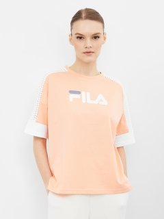 Футболка Fila 107865-EW 42-44 Оранжевый/Белый (4670036628668)