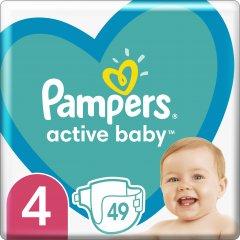 Подгузники Pampers Active Baby Размер 4 (Maxi) 9-14 кг 49 шт (8001090949851)