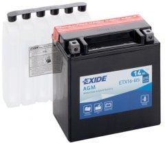 Мото аккумулятор Exide AGM 14 Ah (+/-) 215EN (ETX16-BS)