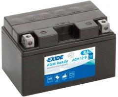 Мото аккумулятор Exide Ready AGM 8.6 Ah (+/-) 145EN (AGM12-8)
