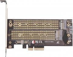 Плата расширения Frime PCI-E x4 to M.2 (B & M Key) NVMe (ECF-PCIEtoSSD002.LP)
