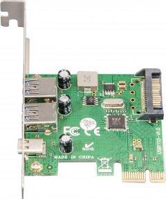 Плата расширения Frime PCI-E to USB3.0 TYPE-A+C (2+1 порты) VL805 (ECF-PCIEtoUSB007.LP)