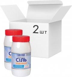 Упаковка кухонной йодированной соли SOLENA с пониженным содержанием натрия + калий + магний 700 г х 2 шт (4850181)