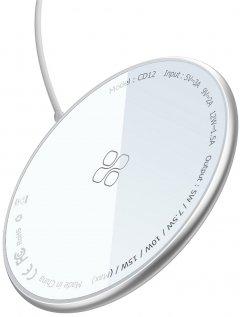 Беспроводное зарядное устройство Promate MagTag-15W Silver (magtag-15w.silver)