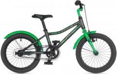 "Велосипед Author Stylo II 16"" рама 9"" 2021 Матовый тёмно серый/зелёный (2021012)"