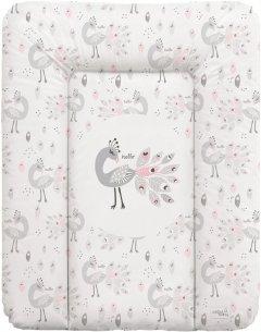 Матрас пеленальный на комод Ceba Baby 70х50 см мягкий Lolly Polly Peacock (W-143-120-608)