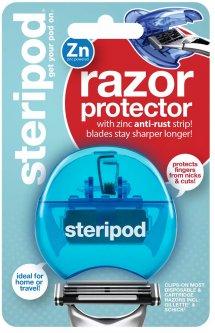 Защитный чехол для бритвы Steripod с цинковой антикоррозийной полоской синий (754349912228) (91223)