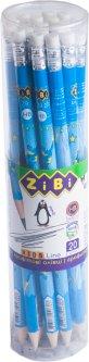 Набор графитовых карандашей ZiBi ZibiMan HB с ластиком 20 шт (ZB.2312-20)