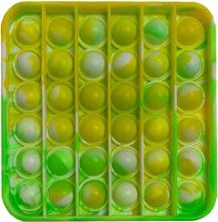 Игрушка антистресс Pop It Квадрат green/yellow (2000024321530)