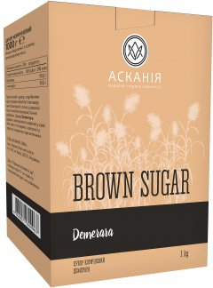 Сахар коричневый Асканія Dry Demerara 1 кг (4820071644967)
