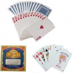 Карты игральные Casino EYT Quality Poker Duke 100% пластик в пластиковом боксе 54 листа 88х58 мм (DN18881)