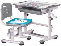 Комплект Evo-kids BD-08 G стол + стул Белый/серый