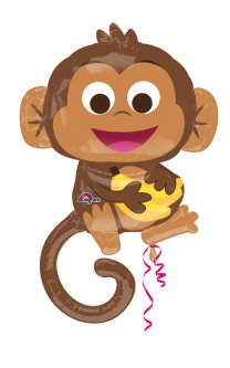 Шарик воздушный Amscan Happy Monkey P35 63x91 см (3457301)