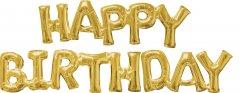 Шарики воздушные Amscan Phrase Happy Birthday Gold P60 (3609901)