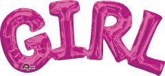 Шарик воздушный Amscan Girl Розовый P35 55х25 см (3309701)