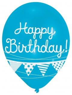 Латексные шарики Amscan Happy Birthday 27.5 см 6 шт (9901853)