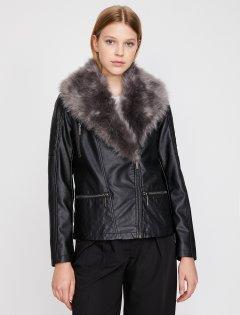 Куртка из искусственной кожи Koton 0KAK22269YW-999 42 Black (8681972409620)