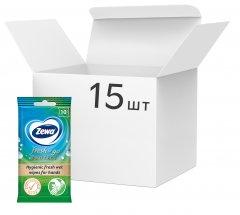 Упаковка влажных салфеток Zewa Protect 10 шт х 15 упаковок (7322540883756)