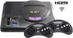 Игровая консоль Retro Genesis 16 bit HD Ultra 225 игр, 2 беспроводных джойстика, HDMI кабель (CONSKDN73)