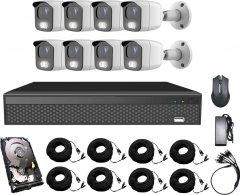 Комплект видеонаблюдения CoVi Security AHD-8W 5MP MasterKit + HDD1000 (0026646)