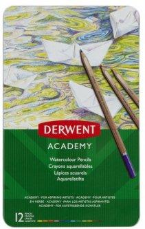 Набор акварельных карандашей Derwent Academy Watercolour 12 цветов (2301941)