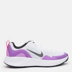 Кроссовки детские Nike Wearallday (Gs) CJ3816-103 38.5 (6Y) 24 см Белые с фиолетовым (194957439423)