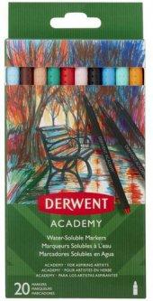Набор цветных водорастворимых маркеров Derwent Academy Markers 20 штук (98202)