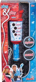 Музыкальный инструмент Simba Toys Микрофон 28 см с разъемом для МР3 плеера и эффектами (6834433)