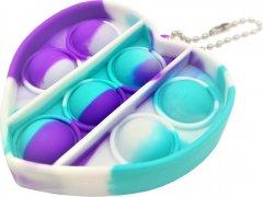 Игрушка-антистресс Pop-it QL065434 брелок сердце разноцветный (QL065434_small_heart) (2218062021204)