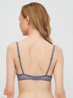 Бюстгальтер Calvin Klein Underwear Lightly Lined Demi QF5242E-0SB 32B Pewter Sand (8719853934173)