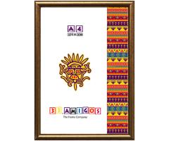 Рамка для дипломов 33.Amigos 21x30 см Золотистая (KF2130GL)