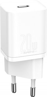 Зарядное устройство Baseus Super Silicone PD Charger 20W (1Type-C) + With Cable Type-C to Lightning (TZCCSUP-B02)