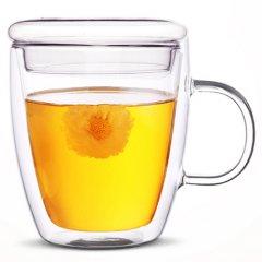 Чашка UFT с двойным дном и стеклянной крышкой 475 мл (UFTDG01)