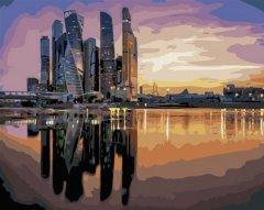 Картина по номерам Bookopt Вечерние небоскребы 50х40 см (bk_1033) (2252523105016)