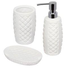 Набор аксессуаров для ванной комнаты VOLVER Blanca 3 предмета W